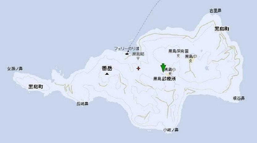 黒島診療所の地図
